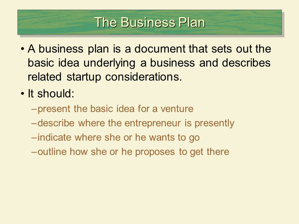 Business plans & link to funding