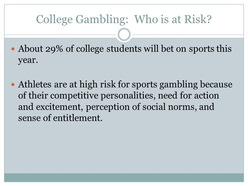 Gambling behavior among college student-athletes casino slot machines gratis spelen