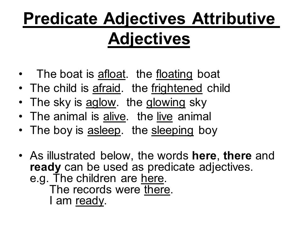 adjectives in english definition of adjective ppt video