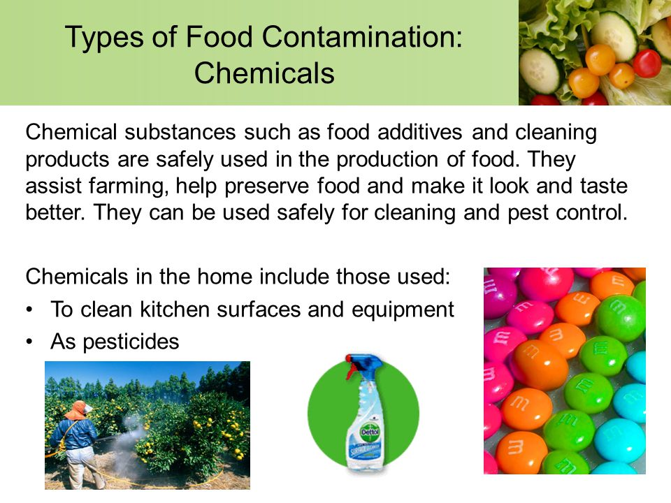 The chemical contamination of food