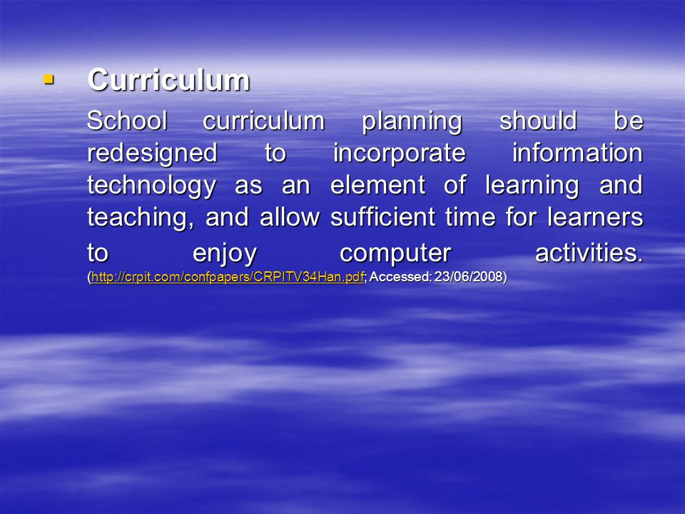 the impact of ict on learning and teaching pdf