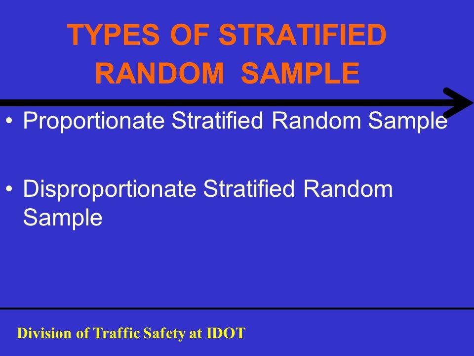 TYPES OF STRATIFIED RANDOM SAMPLE