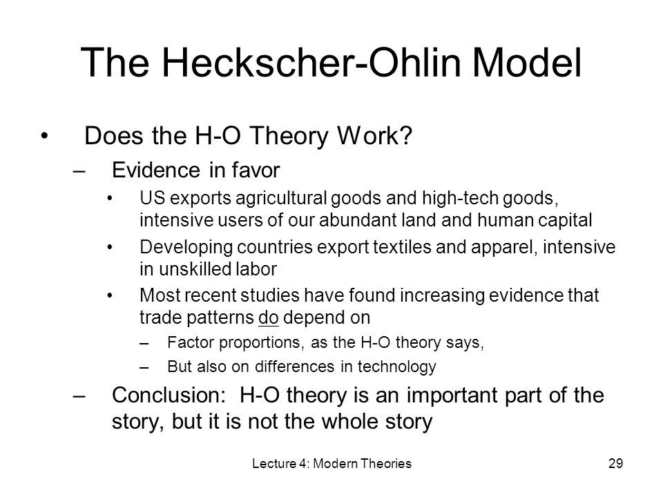 Heckscher–Ohlin theorem