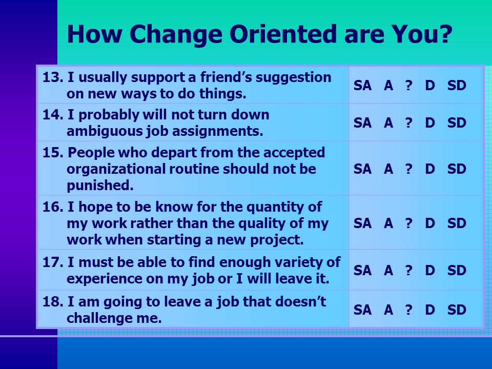 how power oriented am i If you had to choose one, would you consider yourself a big-picture person or a detail-oriented person.