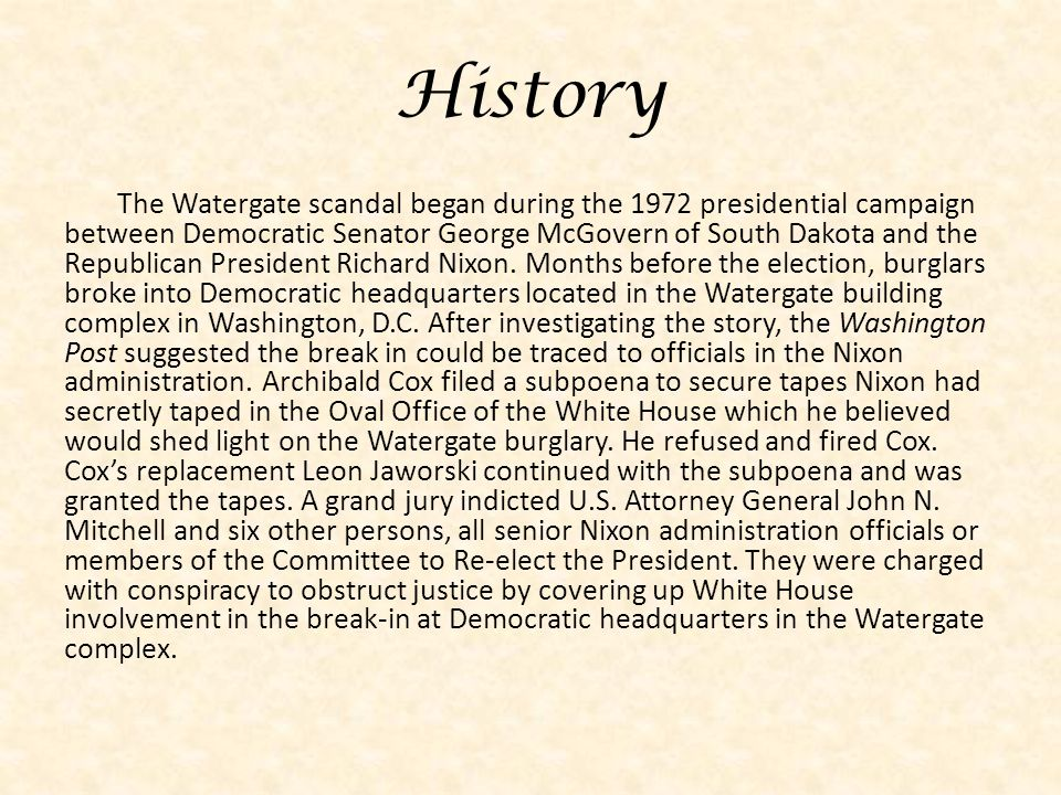 White House scandals: A long and ugly history