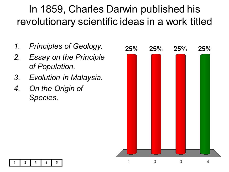 during his voyage on the beagle charles darwin made many  in 1859 charles darwin published his revolutionary scientific ideas in a work titled