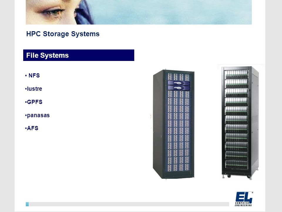 HPC Storage Systems File Systems NFS lustre GPFS panasas AFS