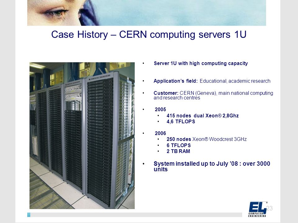 Case History – CERN computing servers 1U