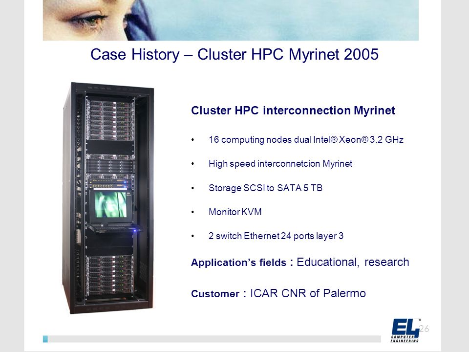 Case History – Cluster HPC Myrinet 2005