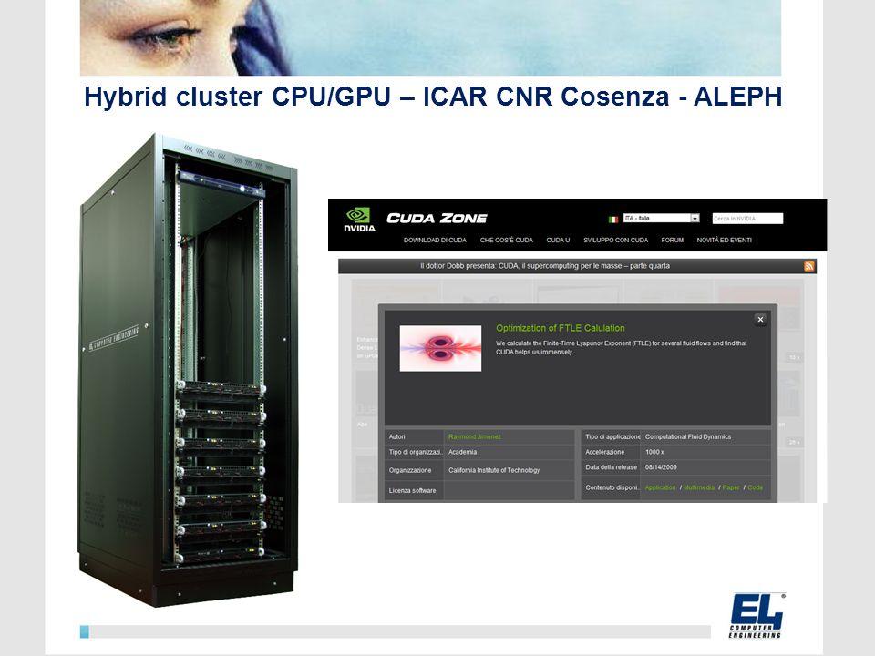 Hybrid cluster CPU/GPU – ICAR CNR Cosenza - ALEPH