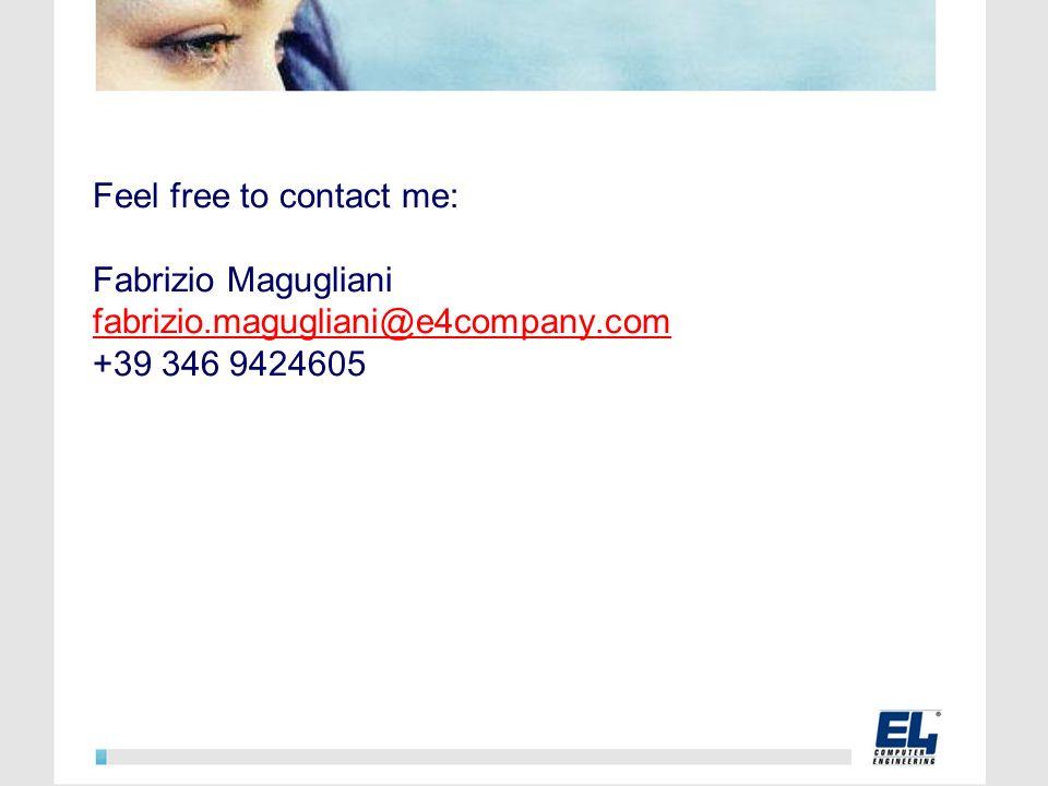 Feel free to contact me: