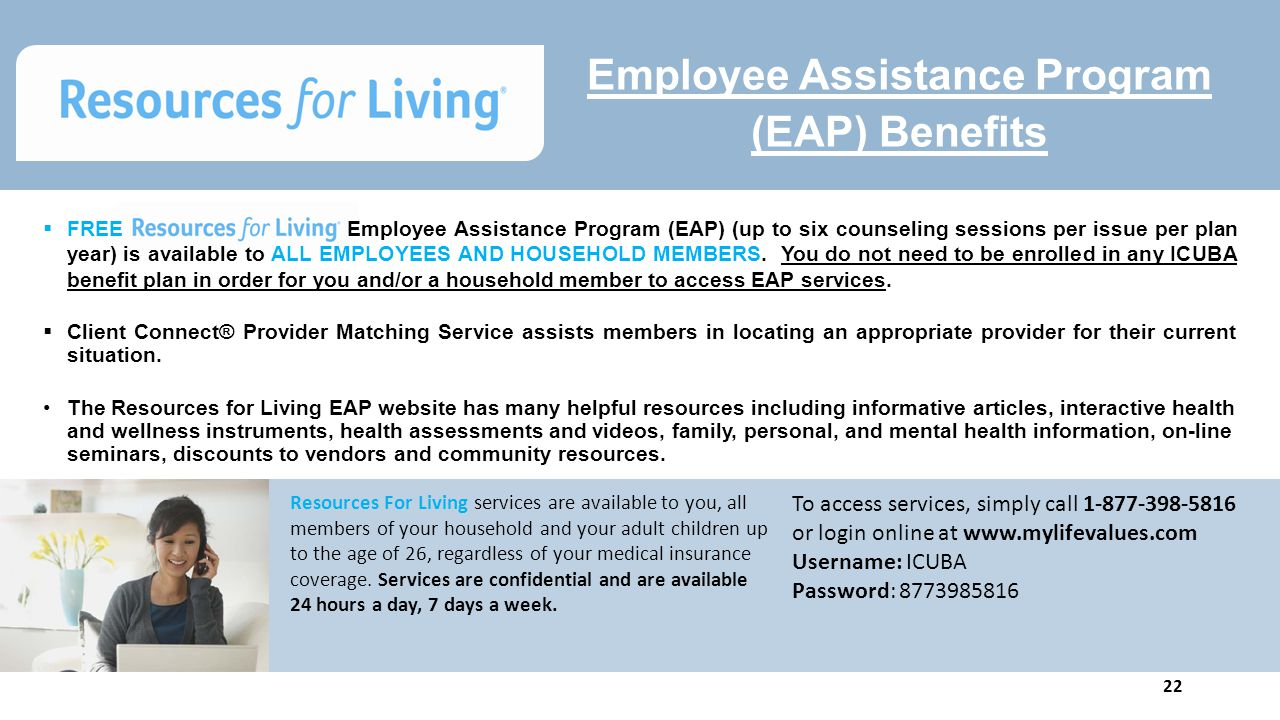 an introduction of employee assistance programs Guidance resources employee assistance program the employee assistance program (eap) is a free, confidential benefit that can help address personal or work-related issues faced by uci faculty, staff, retirees and dependents at both the uci campus and uc irvine health.