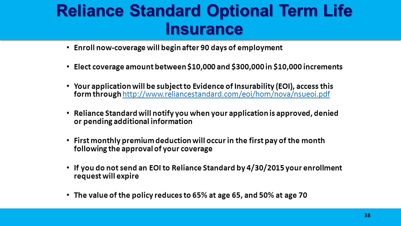 Better benefits through collaboration ppt download reliance standard optional term life insurance falaconquin