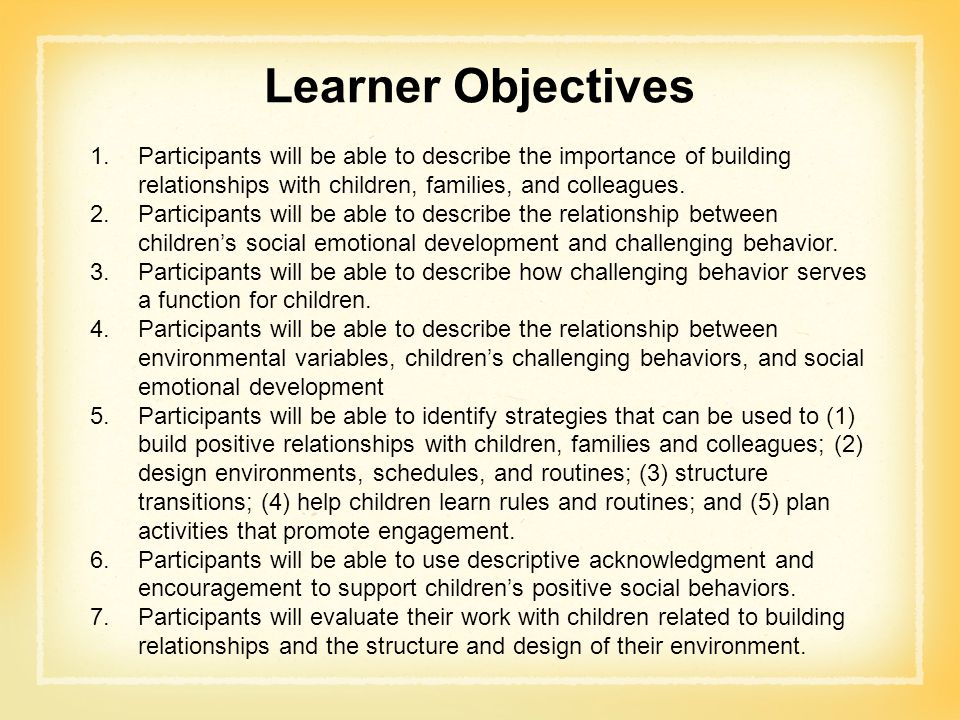 Relationships and child development