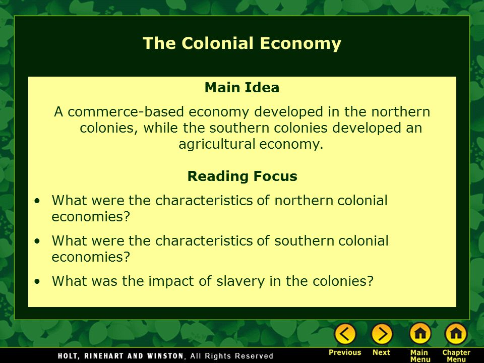 how were the northern and southern colonies similar The main economic and cultural differences between the southern colonies and the new england colonies were the dependence of the southern colonies on plantations, as opposed to the new england religious centered development.