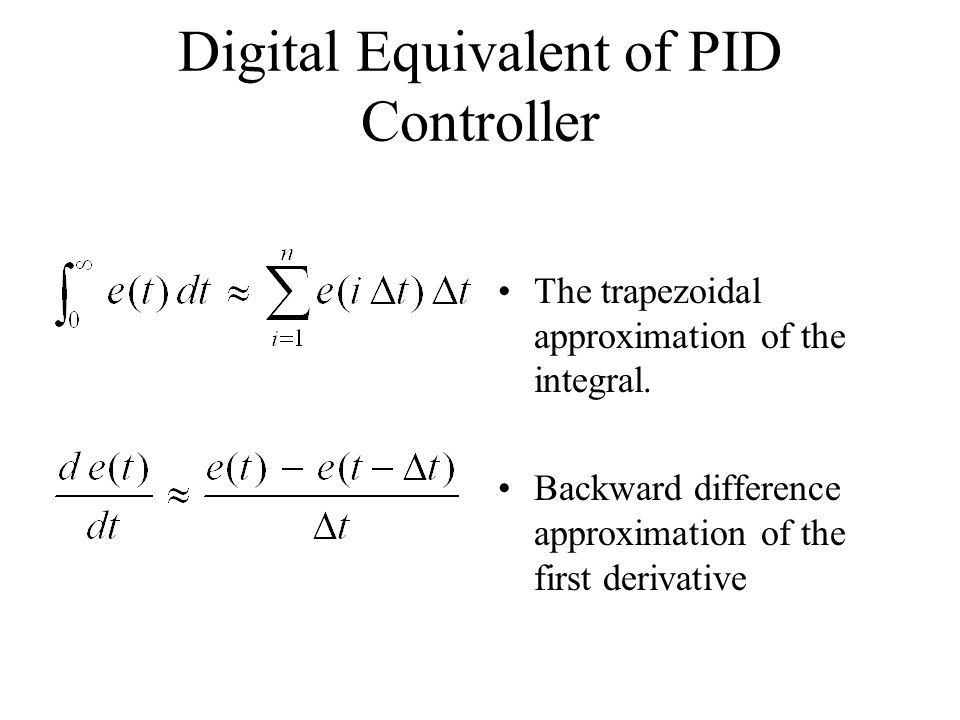 Digital Equivalent of PID Controller