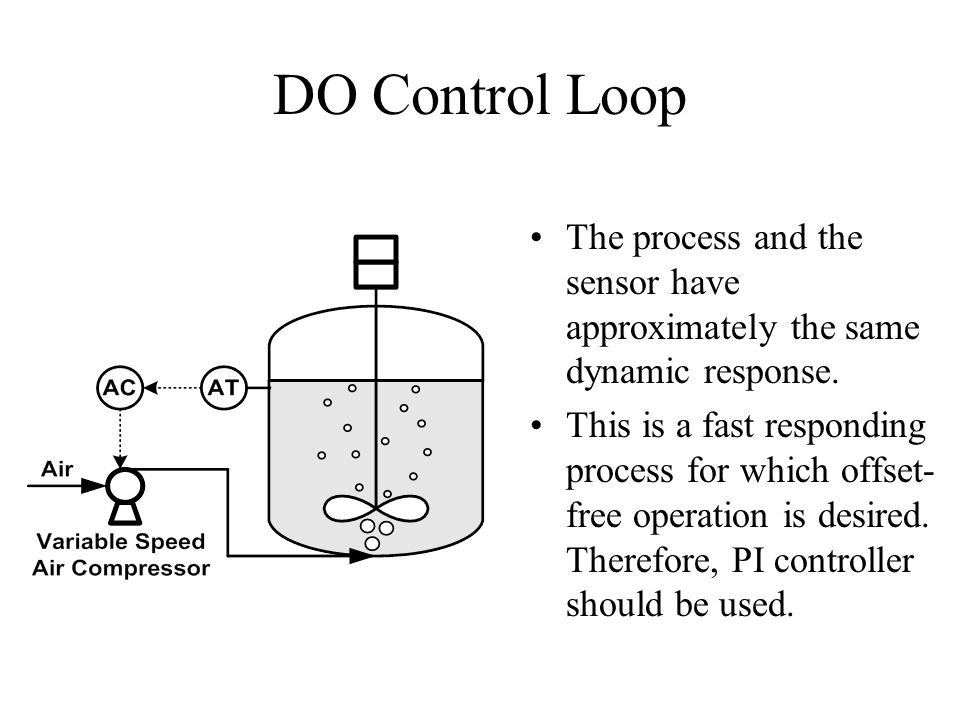 DO Control Loop The process and the sensor have approximately the same dynamic response.