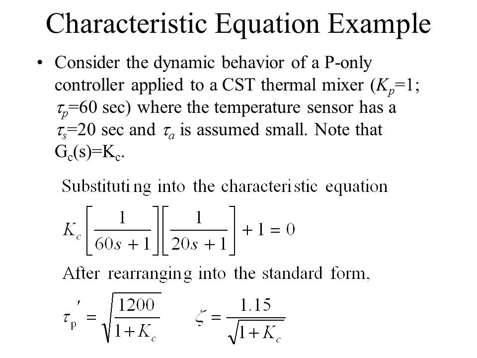 Characteristic Equation Example