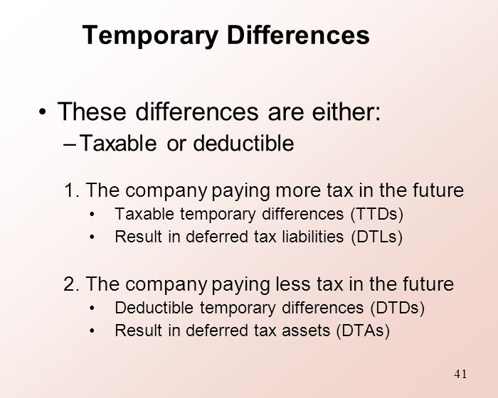 temporary differences As a general rule, keep it simple: ten tips for tax provision preparation article topics entity selection ethics taxation retirement plans accounting standards tax forms auditing either permanent differences or temporary differences.