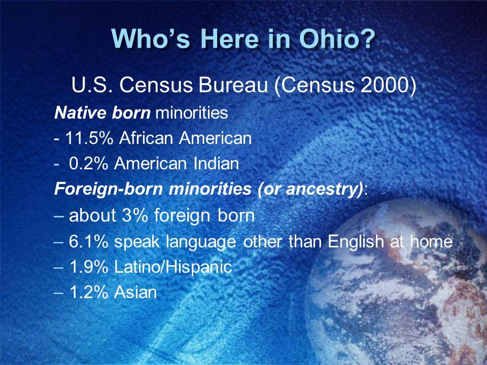U.S. Census Bureau (Census 2000)