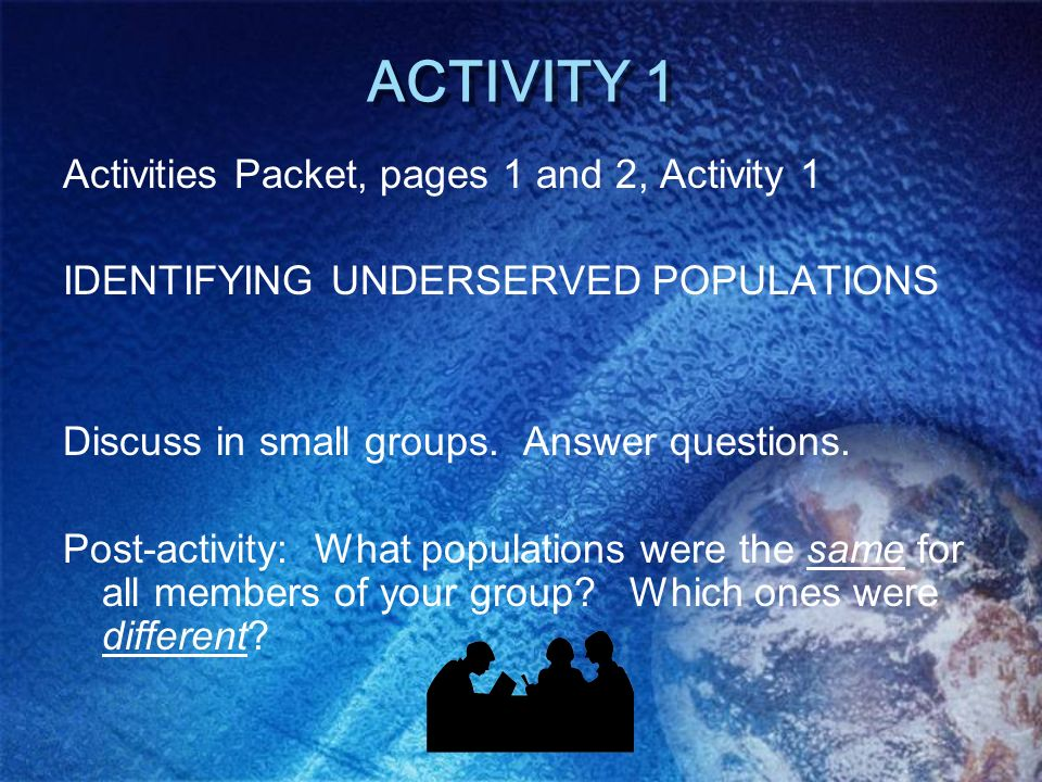 ACTIVITY 1 Activities Packet, pages 1 and 2, Activity 1
