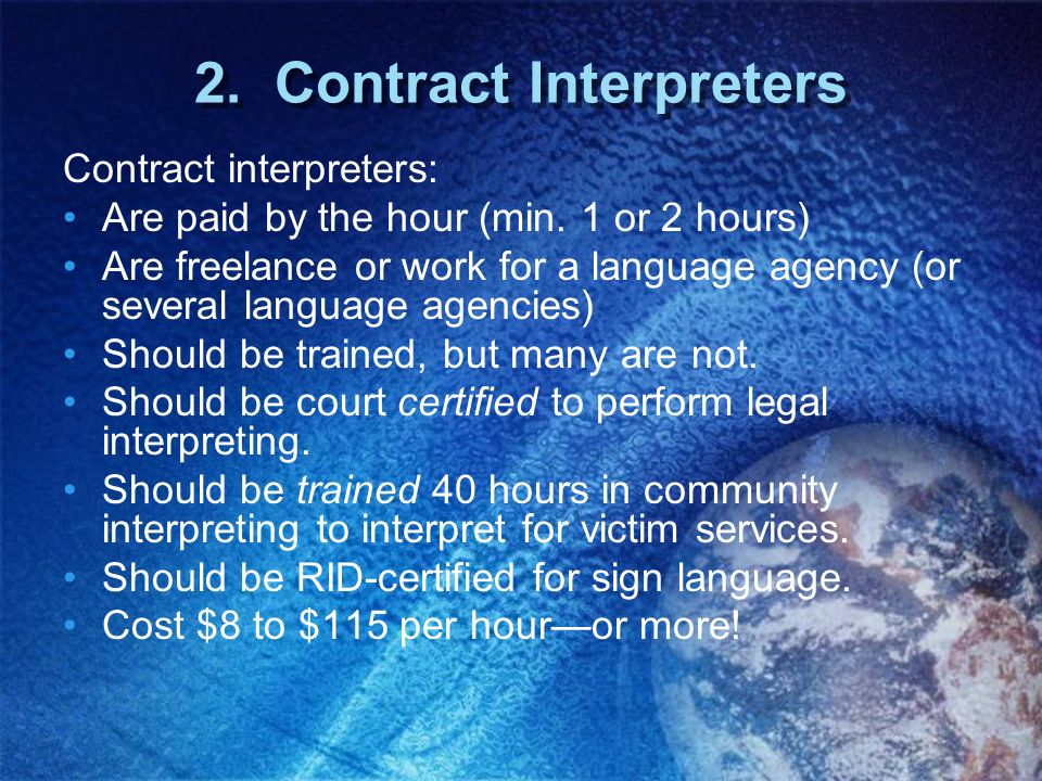 2. Contract Interpreters