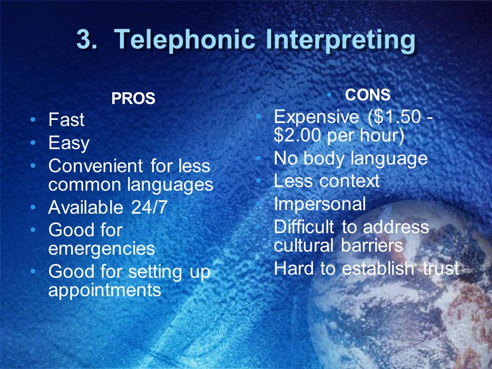 3. Telephonic Interpreting