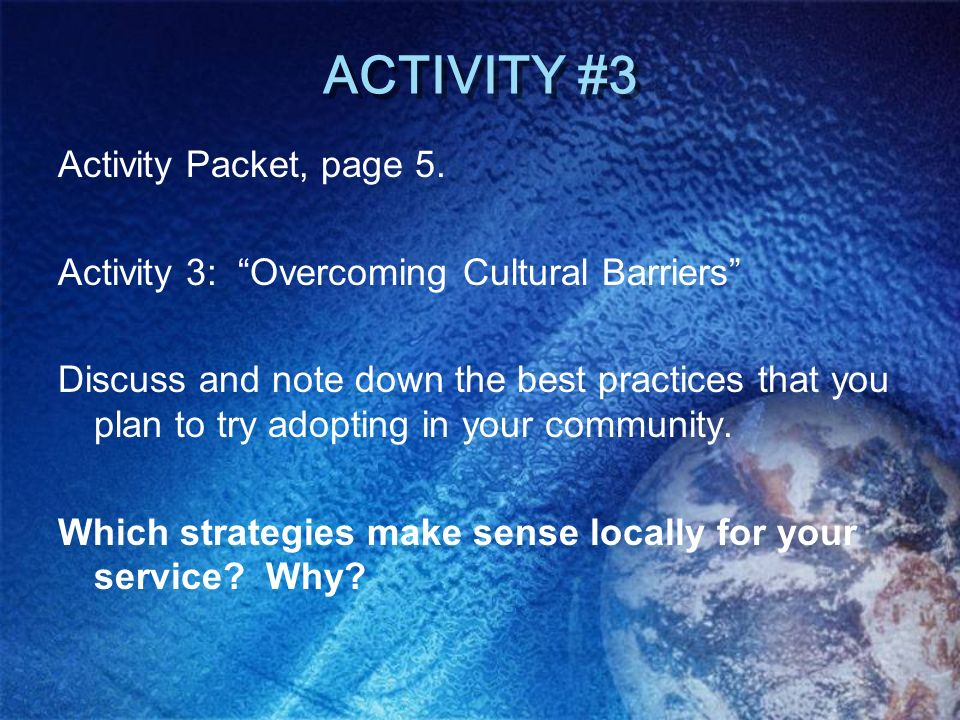ACTIVITY #3 Activity Packet, page 5.