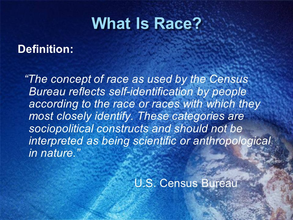 What Is Race Definition: