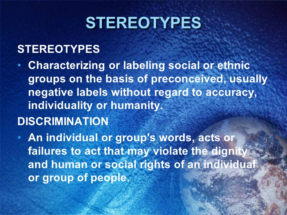 STEREOTYPES STEREOTYPES