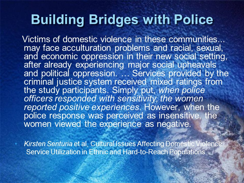 Building Bridges with Police