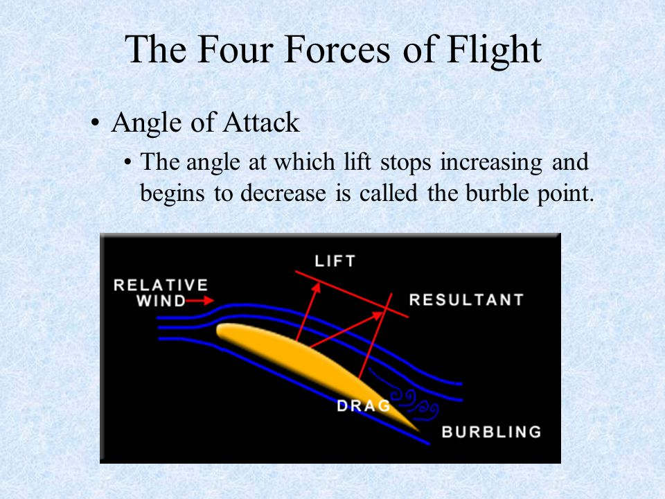 four forces of flight Know the four forces of flight and explain how they are related  empennage landing gear powerplant flight controls four forces of flight lift weight.