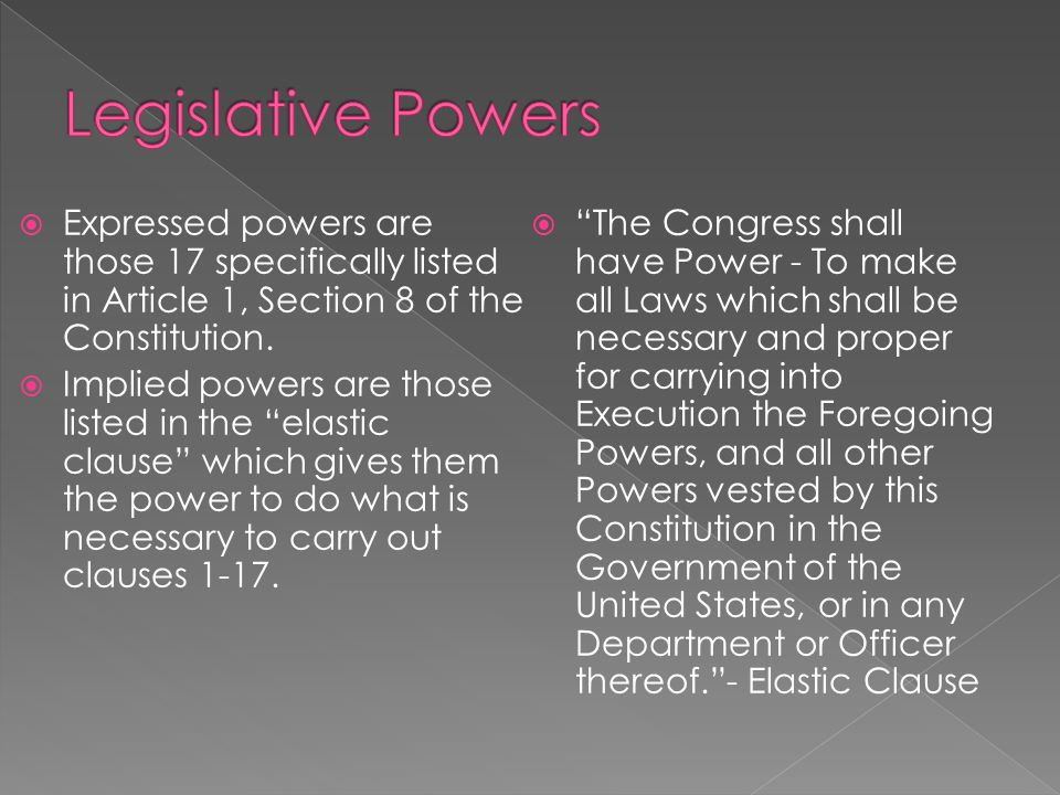 a look at the restrictions of government power in the united states What would the united states look like should the federal government lose power to the the legislative branch of the federal government of the united states.