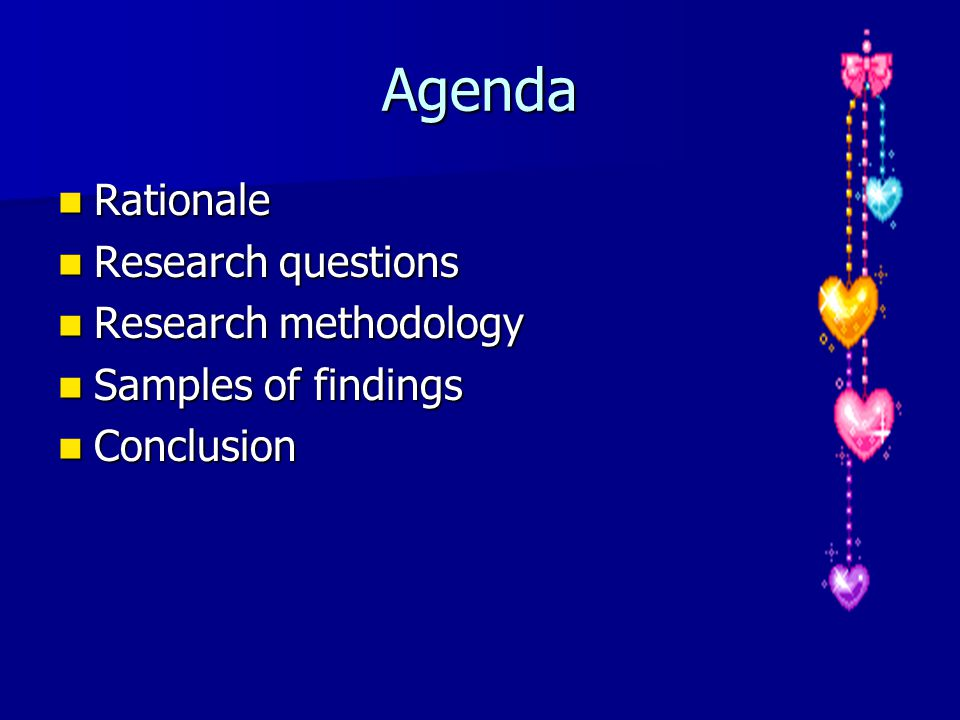 research rationale methodology Read an excerpt from the book applied research and evaluation methods in recreation, by diane c blankenship, and learn about the various steps of the scientific research.