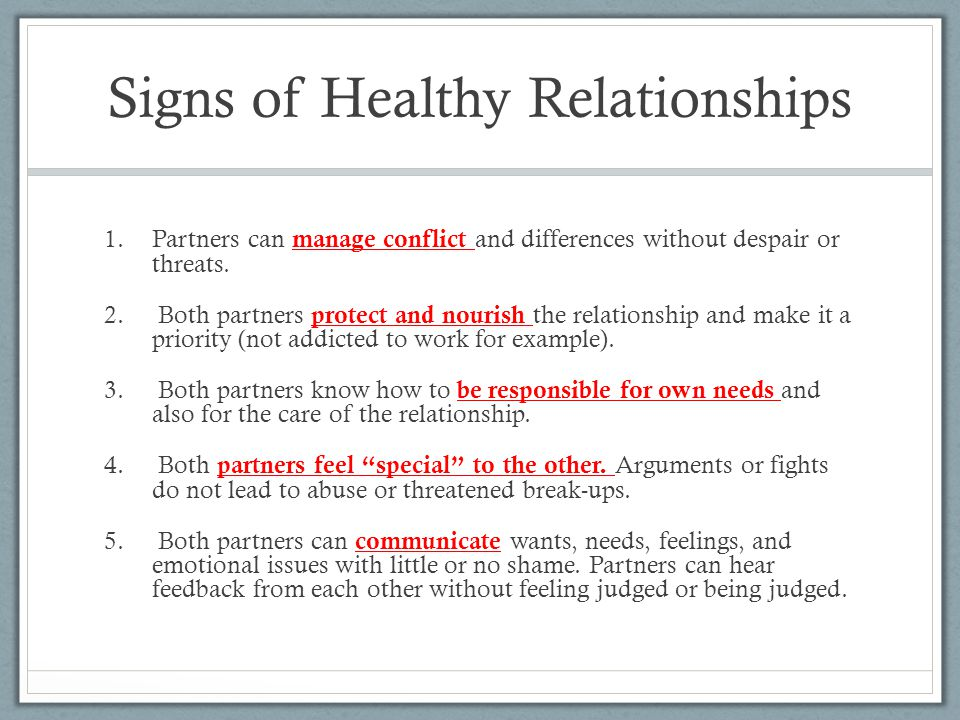 Relationship Signs Healthy Of A Dating