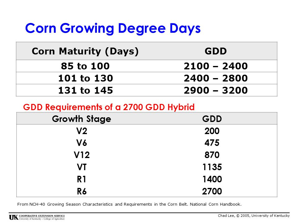 corn growing degree days