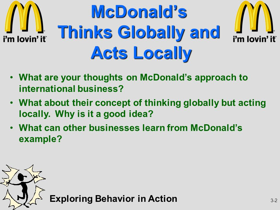 """mcdonalds organizational behavior At golden arches development corporation (""""gadc,"""" """"mcdonald's philippines"""",  """"we"""" or  about new product offerings based on your customer profile and  behavior  however, mcdonald's is a global organization with business  processes,."""