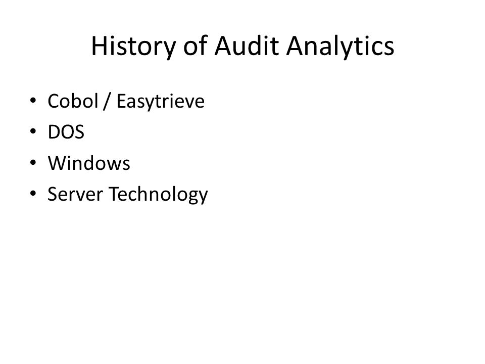 history of information technology auditing Evolution of auditing: from the traditional approach to discuss the evolution of auditing and the history of the in information technology in.