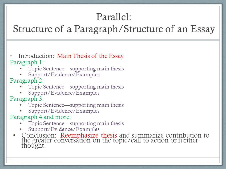 Week  Introducing Essay   Ppt Video Online Download Parallel Structure Of A Paragraphstructure Of An Essay