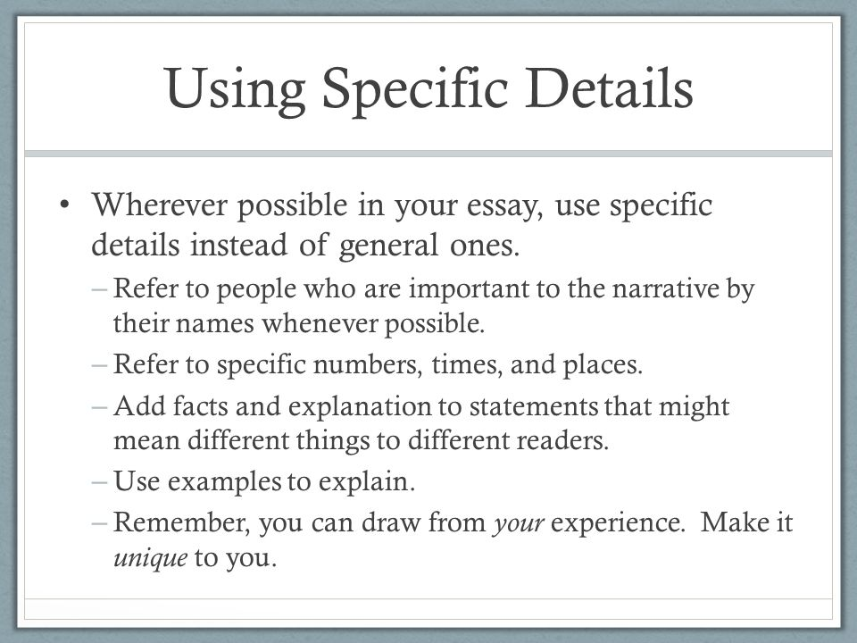 using the example of one specific The following examples illustrate the use and construction of simple regular expressions each example includes the type of text to match, one or more regular expressions that match that text, and not.