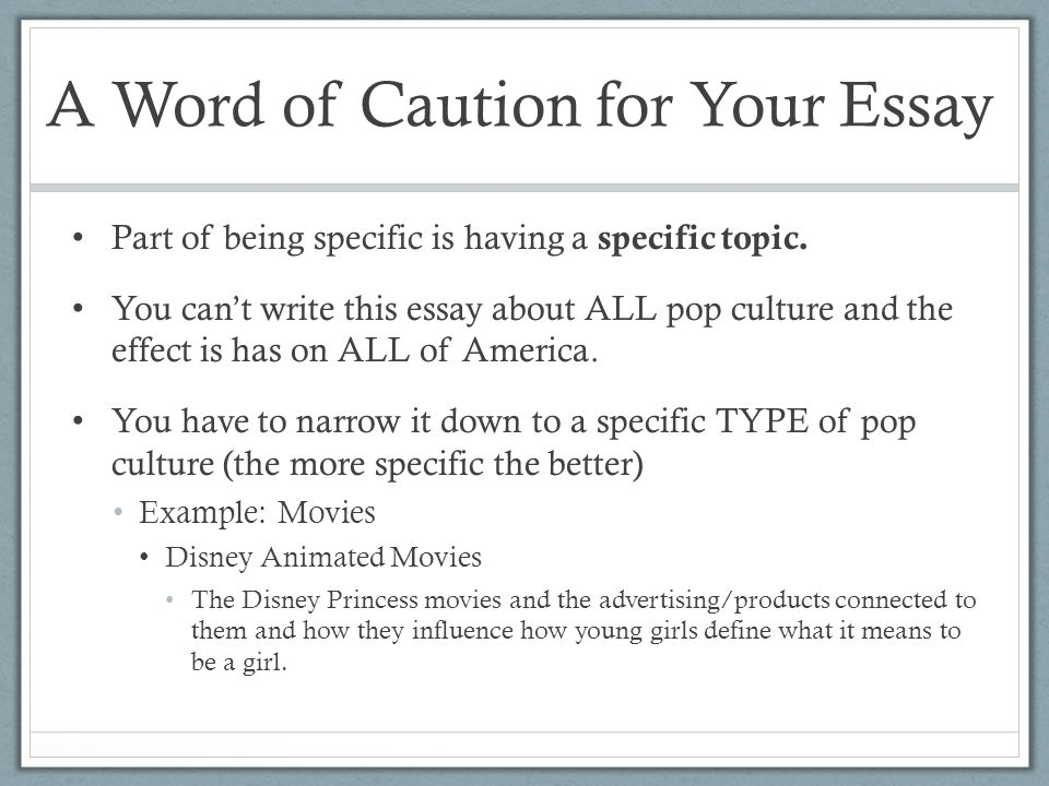 week introducing essay ppt video online  a word of caution for your essay