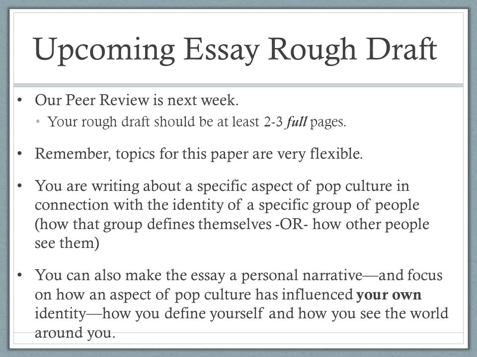 week introducing essay ppt video online  upcoming essay rough draft