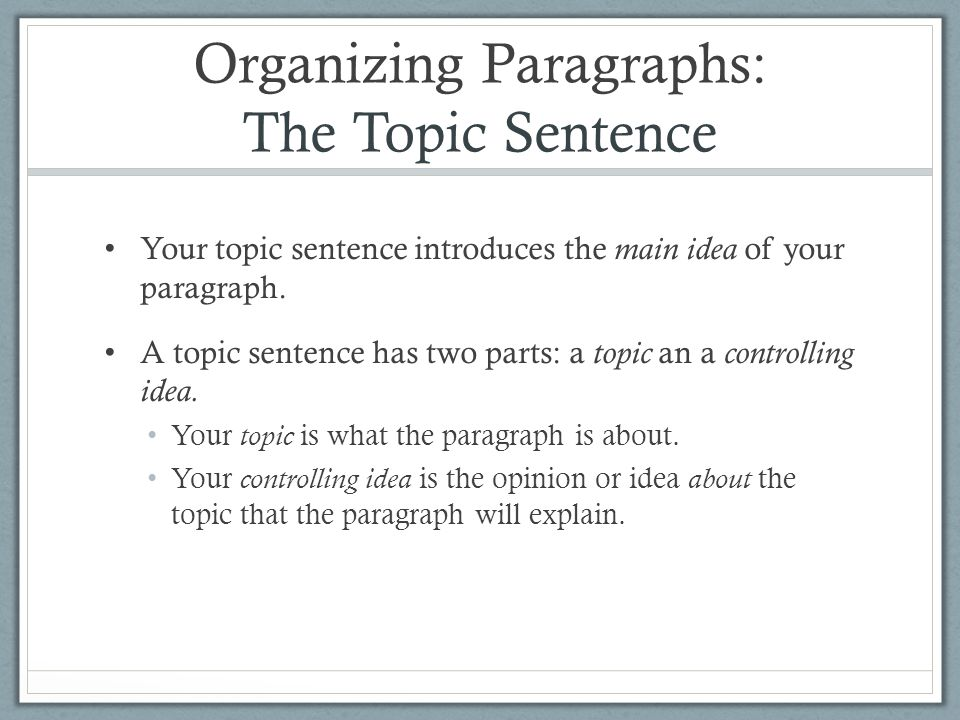 organizing paragraphs in an essay Although there is no set model of organization for argumentative essays basic 5-paragraph (argument) essay outline: this outline also serves for other essays such as research papers, or the basic 5-paragraph essay highlight-and-print outline to fill in.