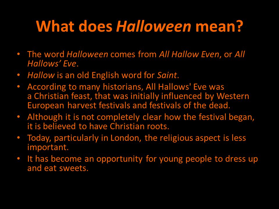What does Halloween mean