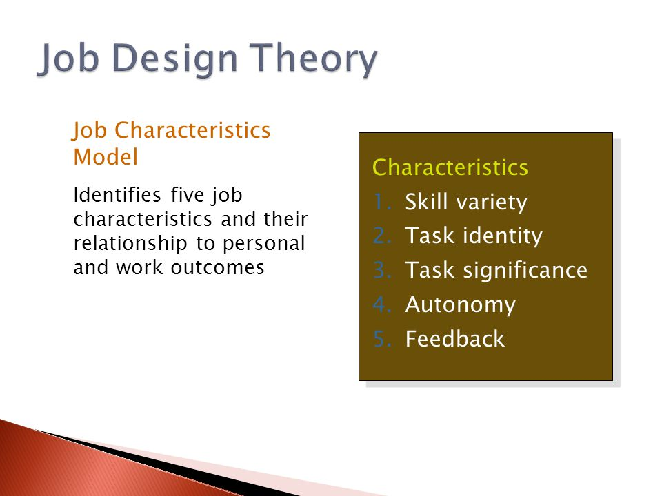 What Is Autonomy In The Job Core Design Elements