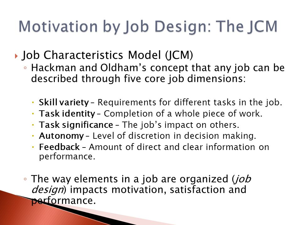 job design and job characteristics Job analysis, job design and quality of work life - free download as word doc (doc), pdf file (pdf), text file (txt) or read online for free.