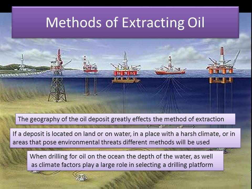 Methods of Extracting Oil