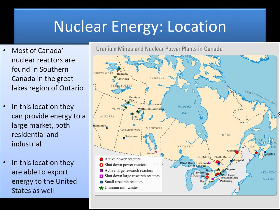 Nuclear Energy: Location