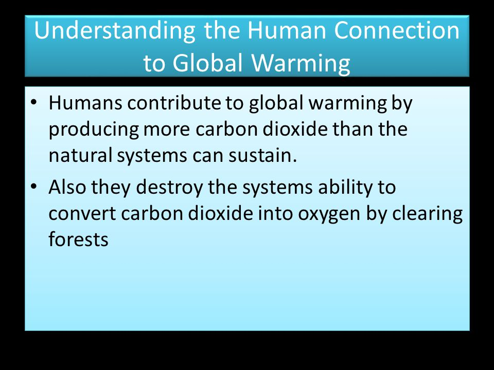 Understanding the Human Connection to Global Warming