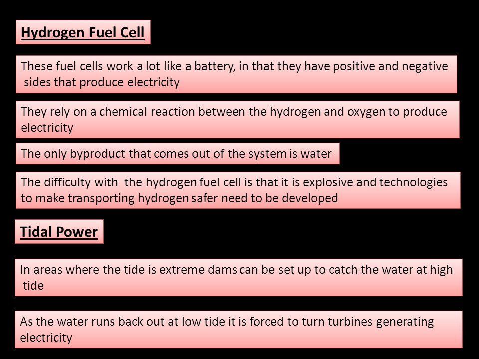 Hydrogen Fuel Cell Tidal Power